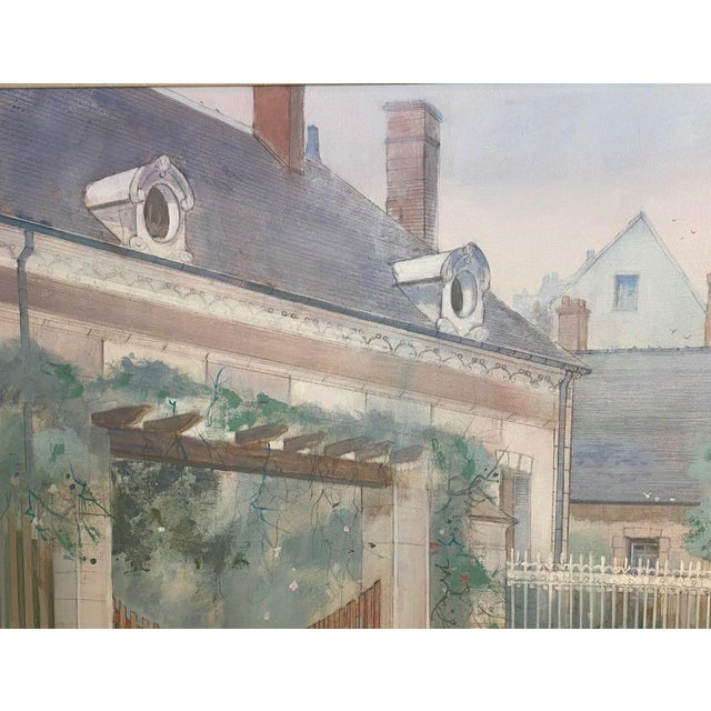 """Figurative 1970s """"Road to Amboise"""" Wm. Benecke Orignal Oil Painting For Sale - Image 3 of 13"""