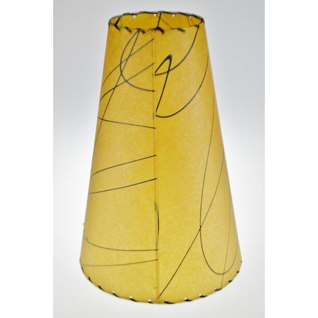 Mid-Century Modern Mid Century Fiberglass Atomic Style Lamp Shade For Sale - Image 3 of 13