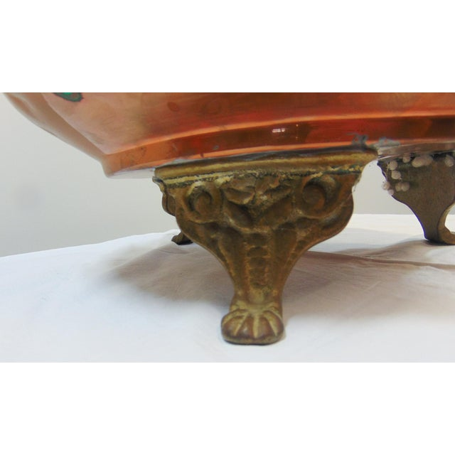 Arts & Crafts Copper & Brass Ash Bucket For Sale - Image 4 of 7