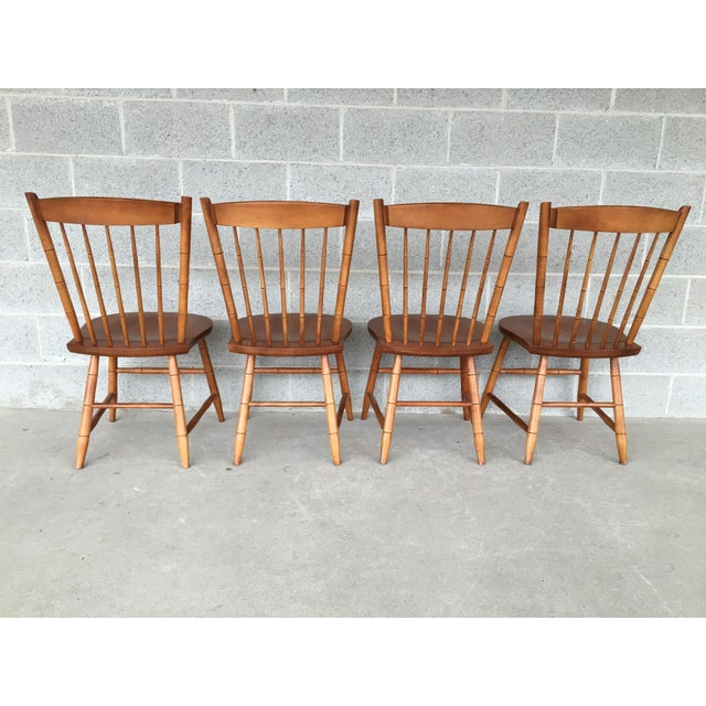 Hitchcock L. Hitchcock Maple Harvest Windsor Side Chairs - Set of 4 For Sale - Image 4 of 9