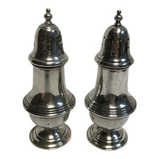 1920s Tarlton Sterling Salt & Pepper Shakers - a Pair For Sale