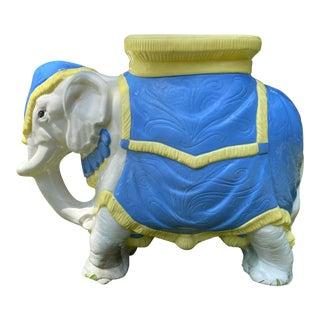 Mid-Century Vintage Ceramic Elephant Stool For Sale