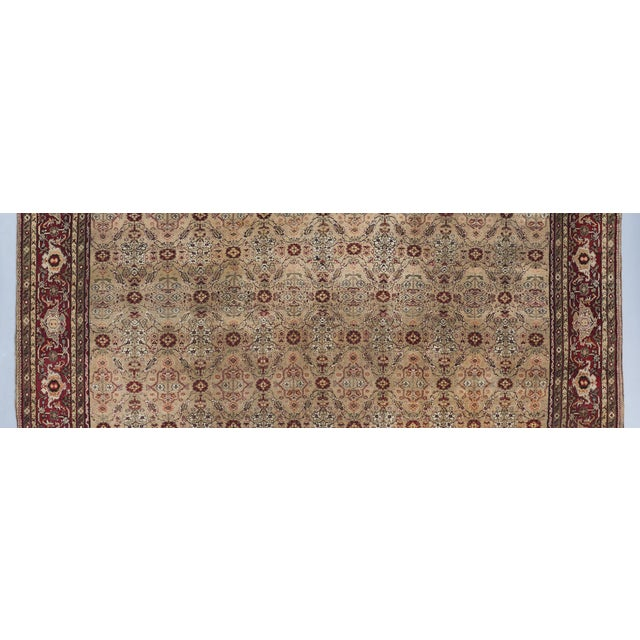 Traditional Beige Ground Square Agra Carpet For Sale - Image 3 of 6