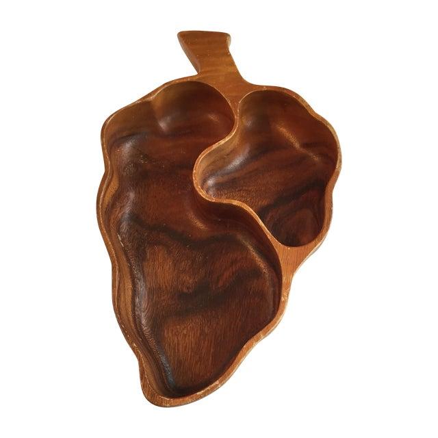 Wood Leaf Chip & Dip Bowl - Image 1 of 11