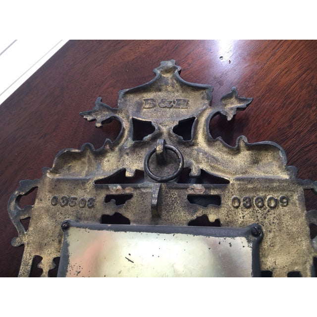 Metal B & H Mirrored Candle Sconce For Sale - Image 7 of 8
