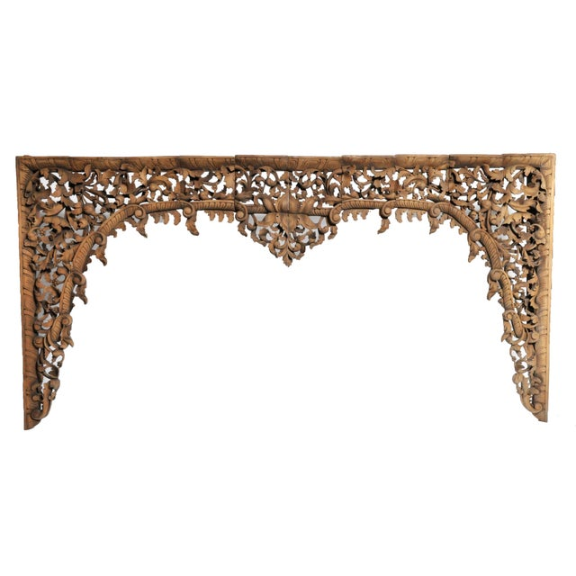 Burmese Hand Carved Arch For Sale - Image 11 of 11