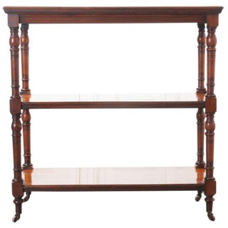English 19th Century Mahogany Tea Trolley For Sale