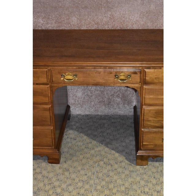 1960s 1960s Early American Ethan Allen Executive Desk For Sale - Image 5 of 12