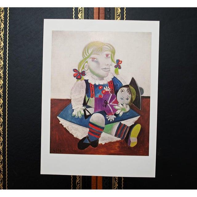 Lithograph Picasso Portrait De Maya à La Poupée, 1971 Parisian Photogravure For Sale - Image 7 of 9