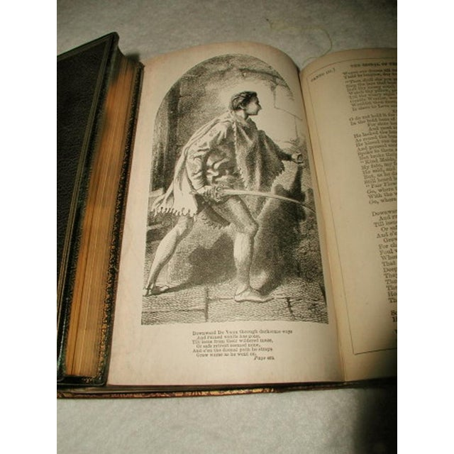 """""""Scott's Poetical Works"""" Illustrated Leather Bound - Image 8 of 8"""