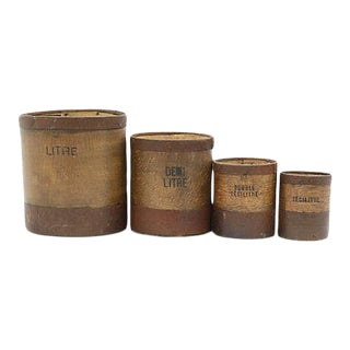 Antique French Wood Grain Measures, - Set of 4 For Sale