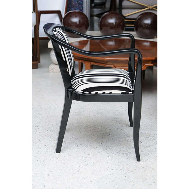 1950s Set of Ten Ebonized Armchairs in the Style of Ed Wormley for Dunbar For Sale - Image 5 of 9