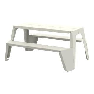 Medium Rambler Picnic Table in Pearl For Sale
