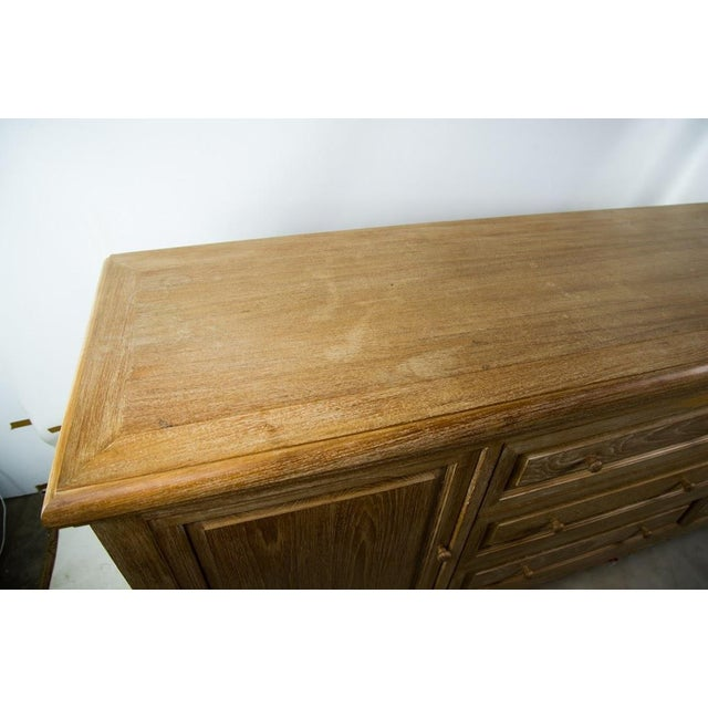 Custom Solid Teak Modern Long Dresser - Image 6 of 11
