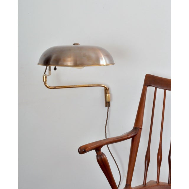 Industrial Amba Swing-Arm Wall Lamp, Switzerland, 1940s For Sale - Image 3 of 12