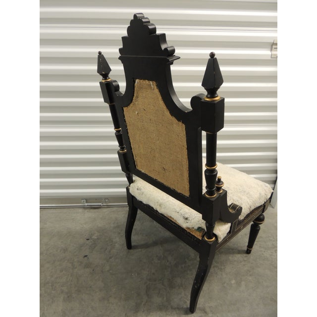 Vintage Moroccan Mother-Of-Pearl Inlaid Frame and Ebonized Wood For Sale - Image 10 of 12