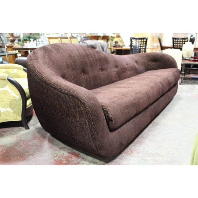 Mid-Century Modern Vintage Irwin Lambeth Asymmetrical Cloud Sofa For Sale - Image 3 of 13