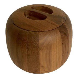 Jens Quistgaard Dansk Lidded Wooden Bowl Ice Bucket For Sale