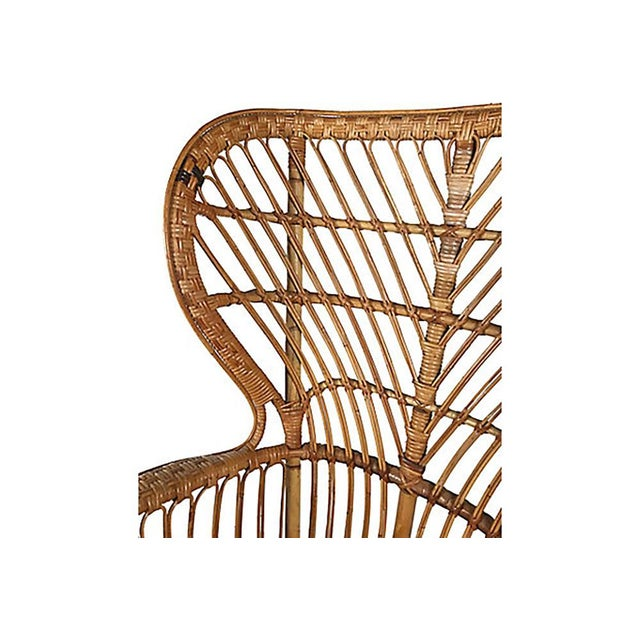 Wood Rattan Wingback Chair by Lio Carminati For Sale - Image 7 of 12