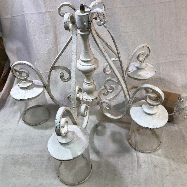 Quorum San Miguel 4-Light Persian White Chandelier For Sale In Washington DC - Image 6 of 13