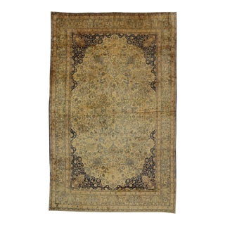 Antique Persian Kerman Gallery Rug with Hollywood Regency Style