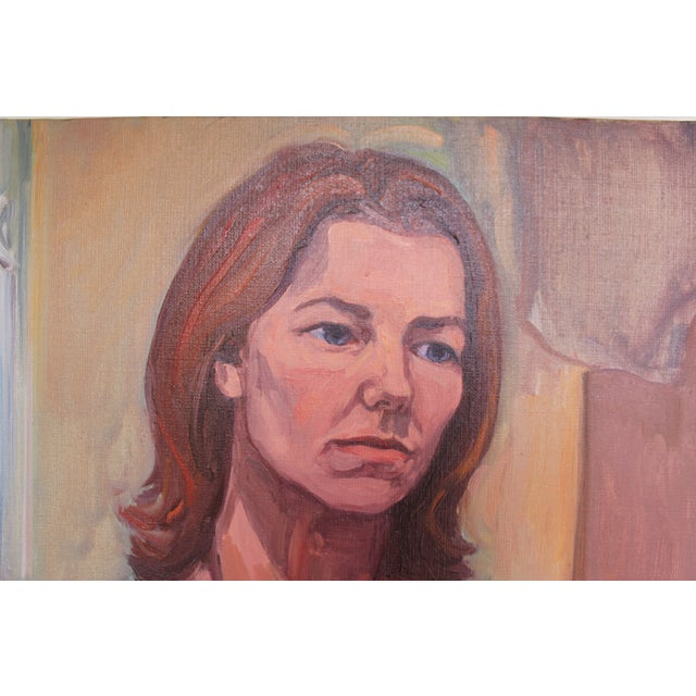 Vintage Portait Painting of a Woman - Image 2 of 3