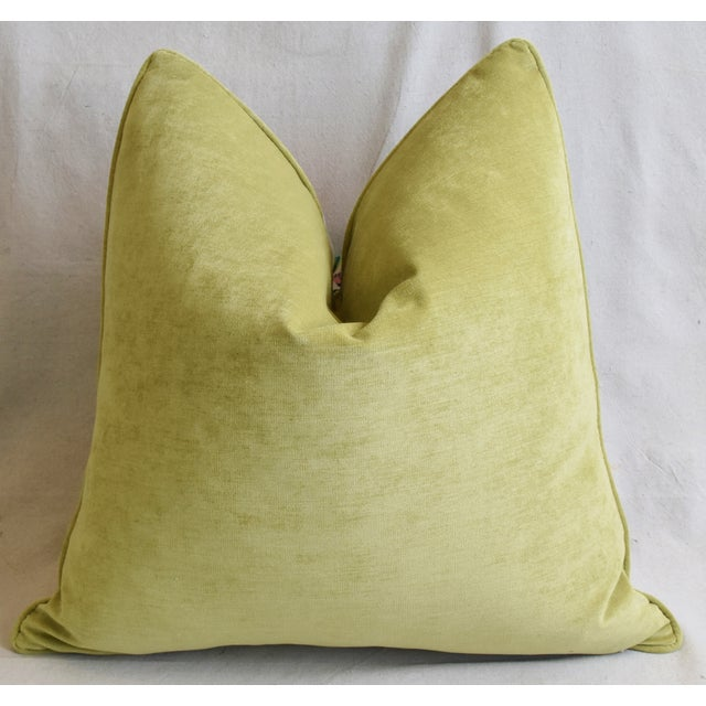 """Schumacher Exotic Butterfly Floral Feather/Down Pillows 24"""" Square - Pair For Sale - Image 10 of 13"""