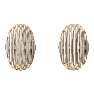 Pair of 1968 French Maison Charles Honeycomb Sconces For Sale