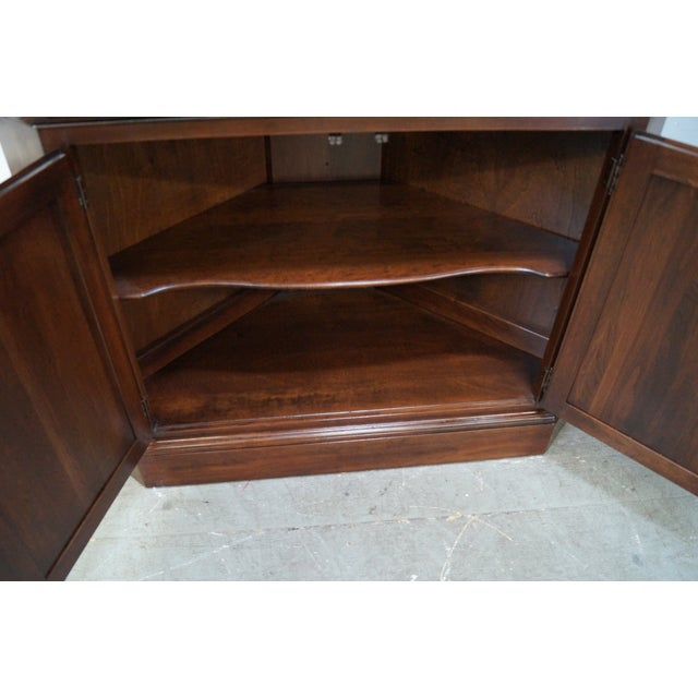 Ethan Allen Georgian Court Cherry Cabinets - Pair - Image 5 of 10