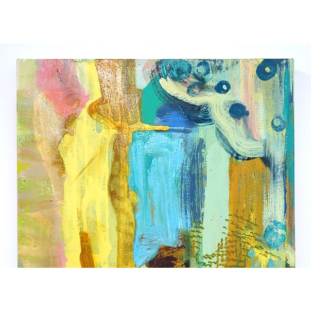 This small yellow painting is by Molly Herman who creates beautiful, colorful abstract work. She currently lives and works...