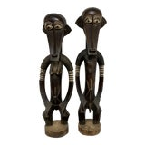 Image of Kenya Male and Female Wooden Statues - a Pair For Sale