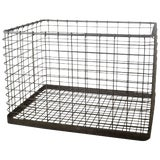 Image of 20th Century Metal Basket For Sale