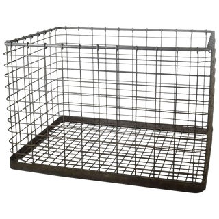 20th Century Metal Basket For Sale