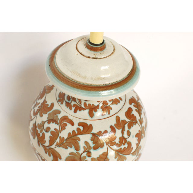 Faience Style Ceramic Urn Table Lamp - Image 6 of 6