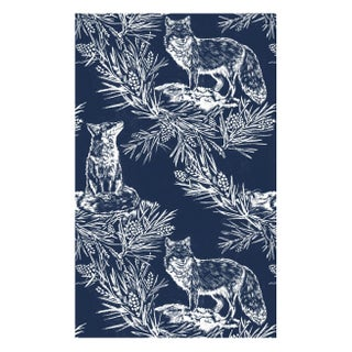 Storm Blue Fox in the Snow wallpaper - Triple Roll For Sale