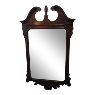 Vintage Drexel Heritage Mahogany Beveled Glass Mirror For Sale