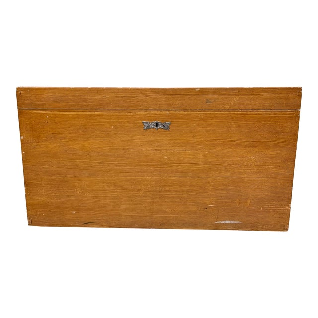 1920s Art Deco Pine Trunk For Sale