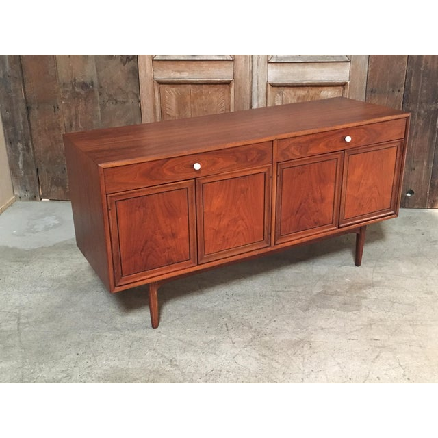 Mid-Century Modern Kipp Stewart Walnut Credenza For Sale - Image 3 of 11