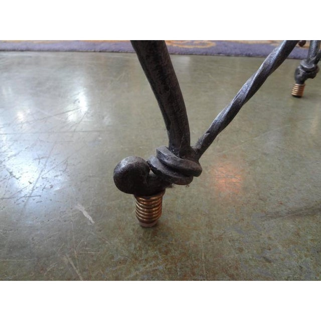 1970's Italian Giacometti Inspired Iron and Brass Table For Sale In Houston - Image 6 of 9