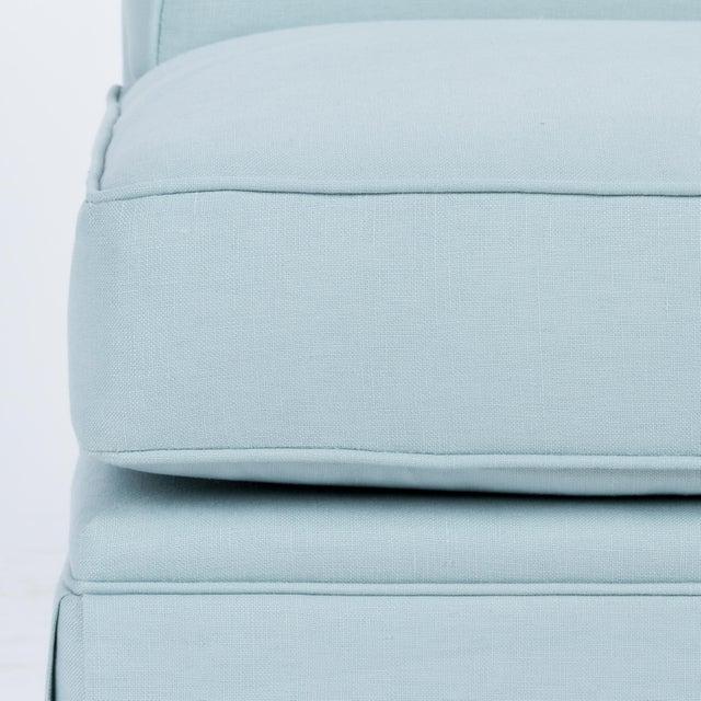 Casa Cosima Casa Cosima Skirted Slipper Chair in Porcelain Blue For Sale - Image 4 of 7