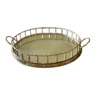 Brass Bamboo Tray For Sale
