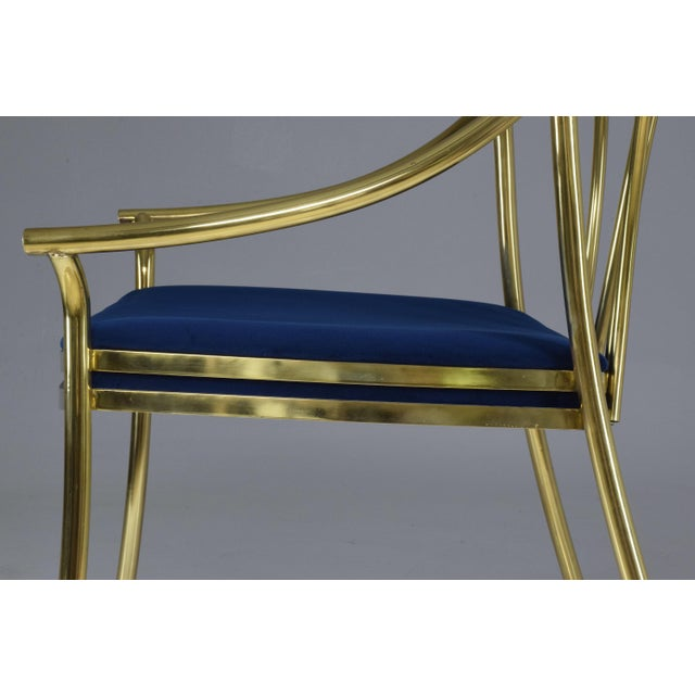 20th Century French Vintage Brass Armchair, 1970-1980 For Sale - Image 4 of 13