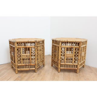 Pair of Vintage Brighton Pavilion Hexagonal Side Tables- Chinese Chippendale Preview