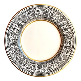 Florentine Black Dragons Wedgwood Bread & Butter Plates For Sale