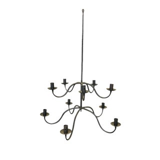 Antique Spanish-Style Hand-Forged Iron Candelabra For Sale