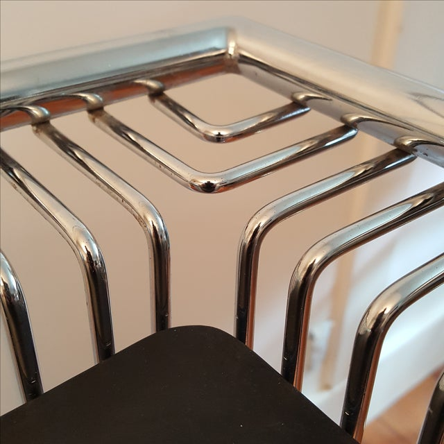 Mid-Century Platner Style Bar Stools & Table Set - Image 8 of 11