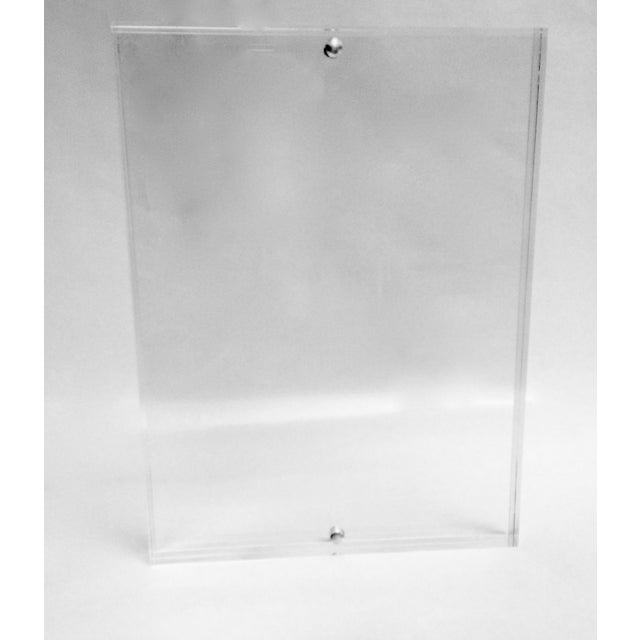 Free Standing Clear Lucite Photo Frame - Image 2 of 5