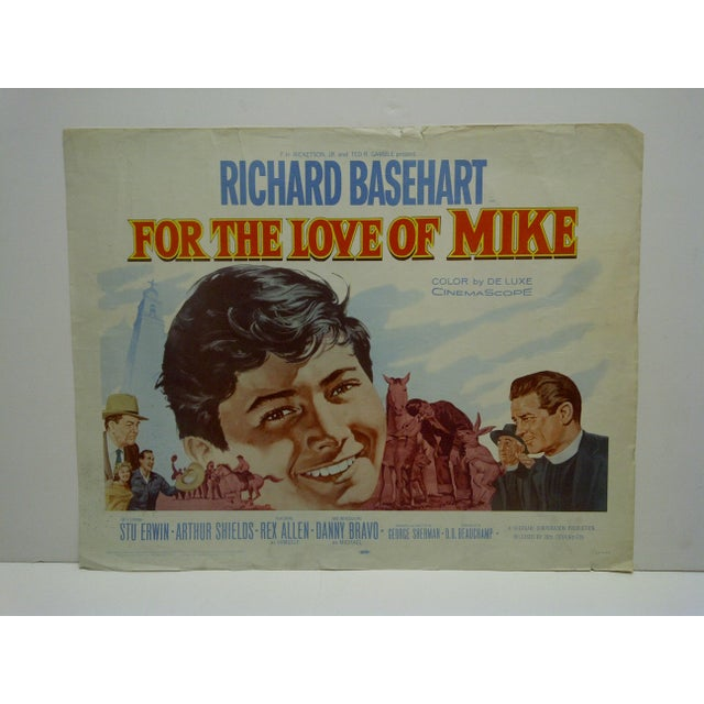 """This is a Vintage Movie Poster -- """"For The Love Of Mike"""" -- 60/252 -- Starring Richard Basehart -- Copyright 1960 -- 20th..."""