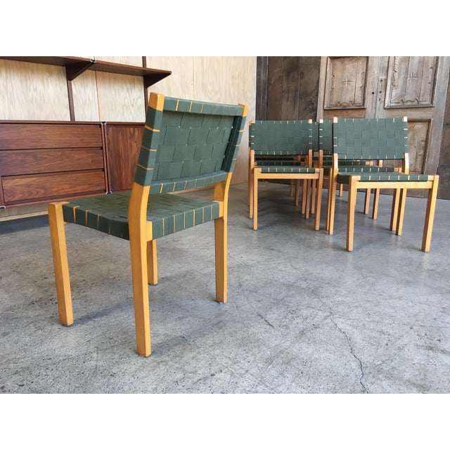 Mid-Century Modern Alvar Aalto Dining Chairs - Set of 8 For Sale - Image 3 of 12