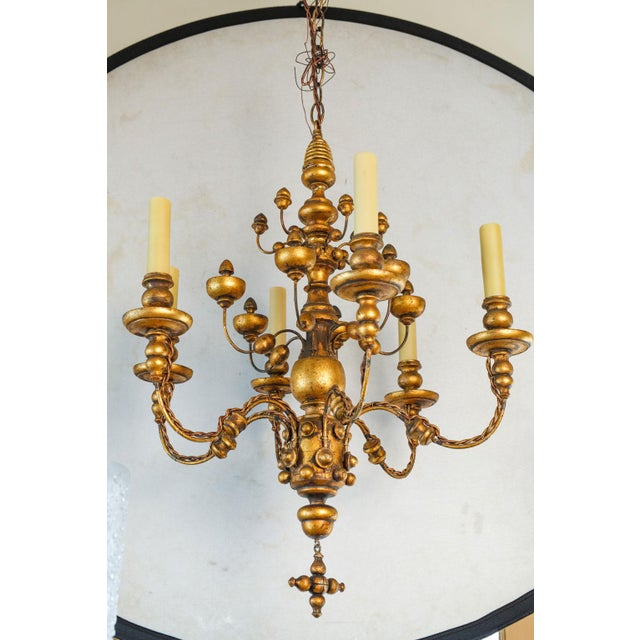 Stunning Giltwood Italian Chandelier For Sale - Image 11 of 11